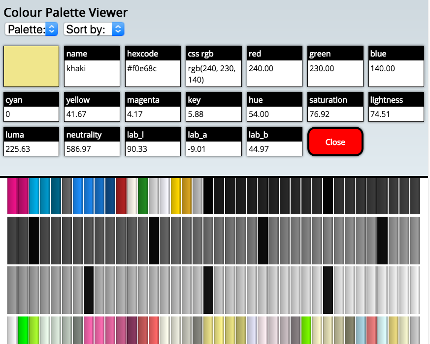 Colour Palette Viewer